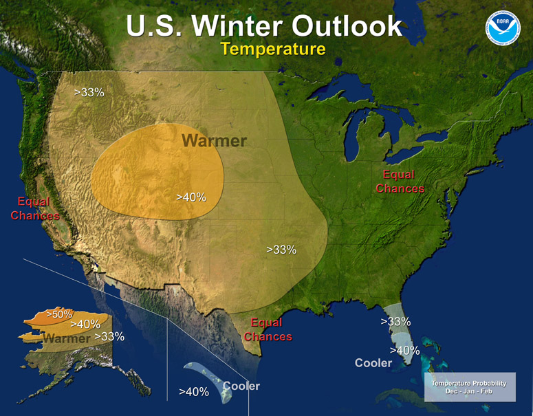 NOAA Winter Outlook 2012
