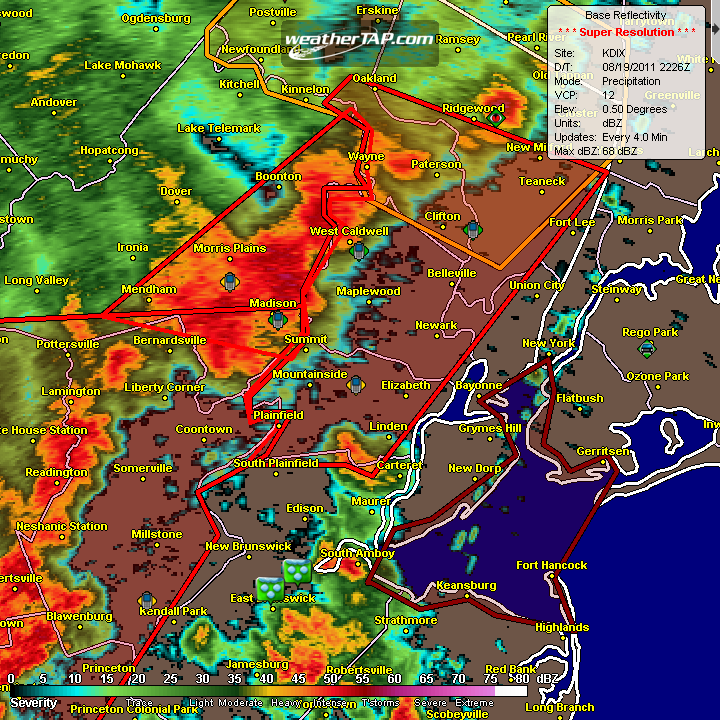 NYC severe thunderstorms 2011